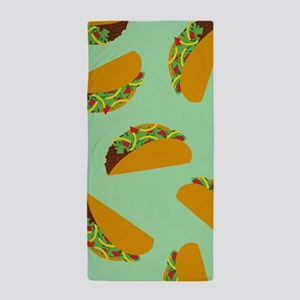 Taco Pattern Beach Towel