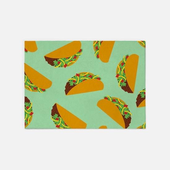 Taco Pattern 5'x7'Area Rug