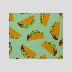 Taco Pattern Throw Blanket