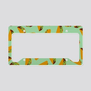 Taco Pattern License Plate Holder