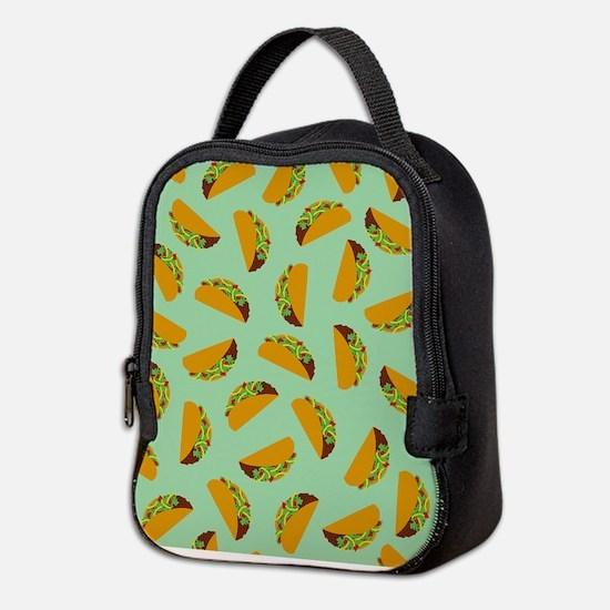 Taco Pattern Neoprene Lunch Bag