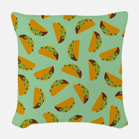 Taco Pattern Woven Throw Pillow