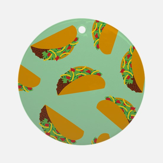 Taco Pattern Ornament (Round)