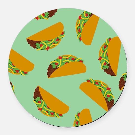 Taco Pattern Round Car Magnet