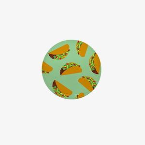 Taco Pattern Mini Button