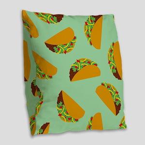 Taco Pattern Burlap Throw Pillow