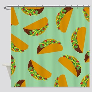 Taco Pattern Shower Curtain