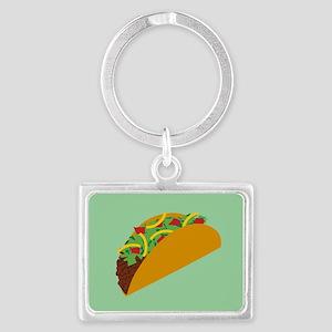 Taco Graphic Landscape Keychain