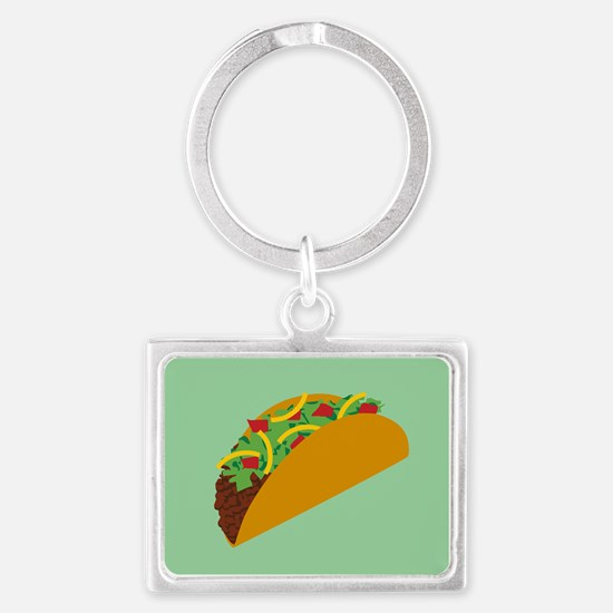 Taco Graphic Landscape Keychain