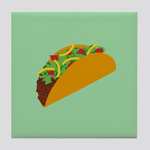 Taco Graphic Tile Coaster