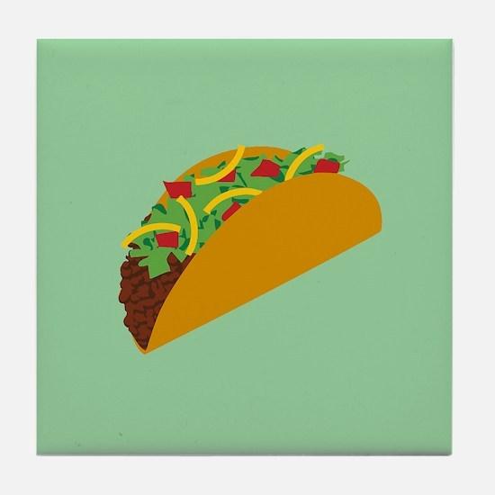 Taco Graphic Tile Coaster