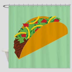 Taco Graphic Shower Curtain