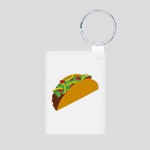 Taco Graphic Aluminum Photo Keychain