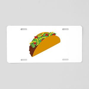 Taco Graphic Aluminum License Plate