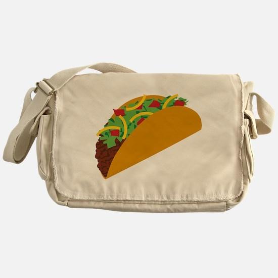 Taco Graphic Messenger Bag