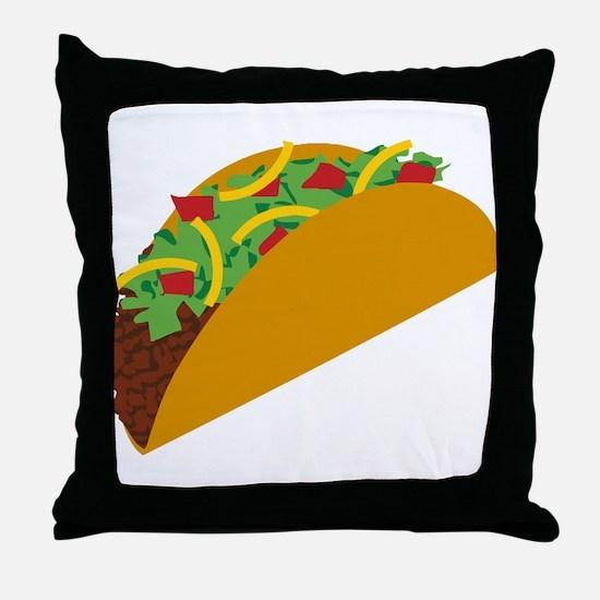 Taco Graphic Throw Pillow