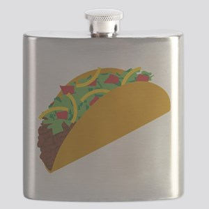 Taco Graphic Flask
