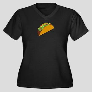 Taco Graphic Women's Plus Size V-Neck Dark T-Shirt