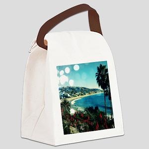 laguna Beach,aqua lights Canvas Lunch Bag