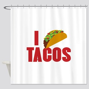 I Love Tacos Shower Curtain