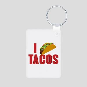 I Love Tacos Aluminum Photo Keychain
