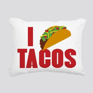 I Love Tacos Rectangular Canvas Pillow