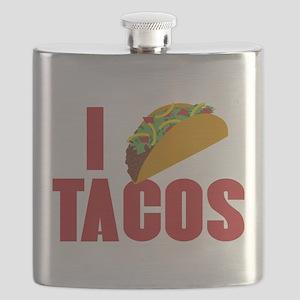 I Love Tacos Flask