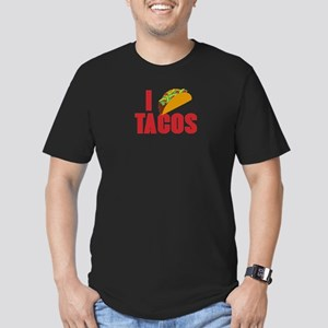 I Love Tacos Men's Fitted T-Shirt (dark)