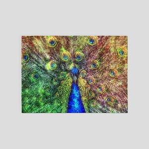 Peacock 5'x7'Area Rug