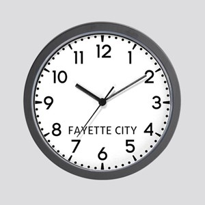 Fayette City Newsroom Wall Clock