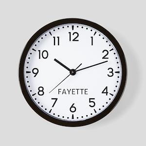 Fayette Newsroom Wall Clock