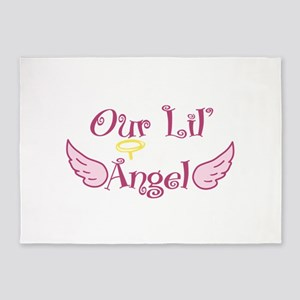 Our Lil Angel 5'x7'Area Rug