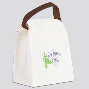Sweet Pea Canvas Lunch Bag