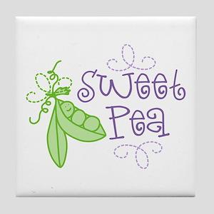 Sweet Pea Tile Coaster