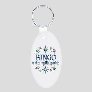 Bingo Sparkles Aluminum Oval Keychain