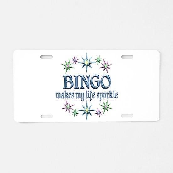 Bingo Sparkles Aluminum License Plate