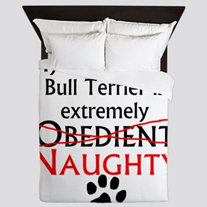 Naughty Staffordshire Bull Terrier Queen Duvet