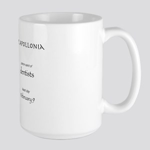 st. apollonia, patron saint of dentists Large Mug