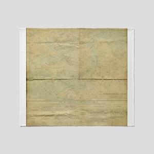 Vintage Antique Rustic North Polar Chart Throw Bla