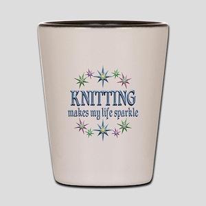 Knitting Sparkles Shot Glass