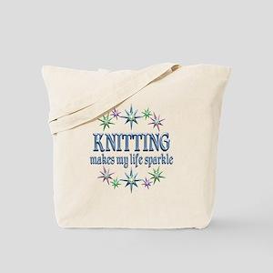 Knitting Sparkles Tote Bag