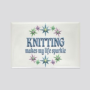 Knitting Sparkles Rectangle Magnet