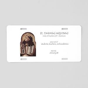st. thomas aquinas, patron  Aluminum License Plate