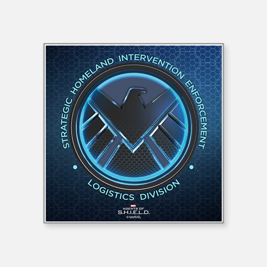 "Agents of Shield Full Bleed Square Sticker 3"" x 3"""