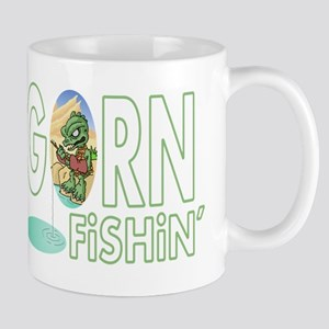 Gorn Fishin Cartoon Mugs