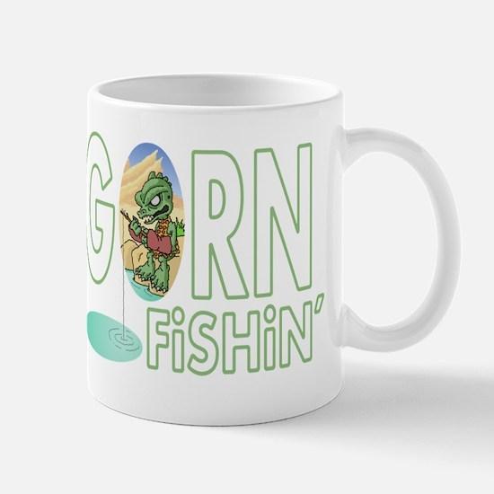 Gorn Fishin Cartoon Mugs
