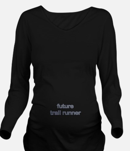 Future Trailrun Blue Long Sleeve Maternity T-Shirt