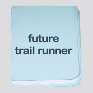 Future Trailrun Blue Baby Blanket