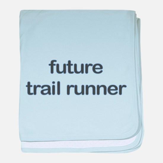 Future Trailrun Blue Baby Blanket