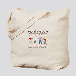 Help Find A Cure Walk 4 Diabetes Tote Bag